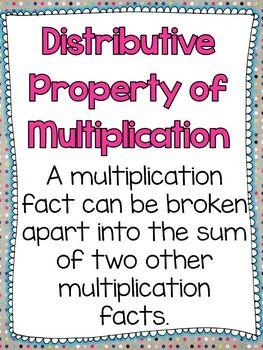 Distributive Property of Multiplication Activities