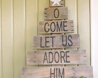 Wood Christmas tree/Christmas sign