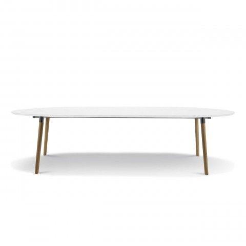 Tisch Oval Weiss Ausziehbar Table White