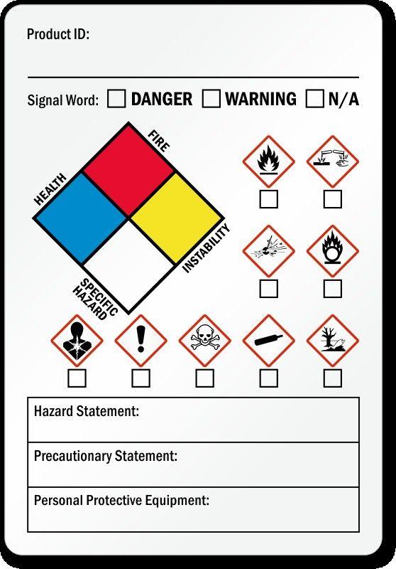 Hmis Label Template : label, template, Chemical, Labels, Template, Seven, Risks, Attending, Label, Templates,, Printable, Address