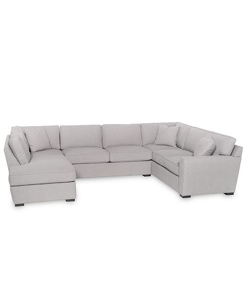 Fabric Feather Down Chaise Sectional