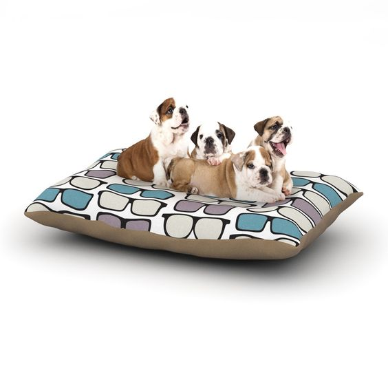 "Michelle Drew ""Spectacles Geek Chic"" Dog Bed"