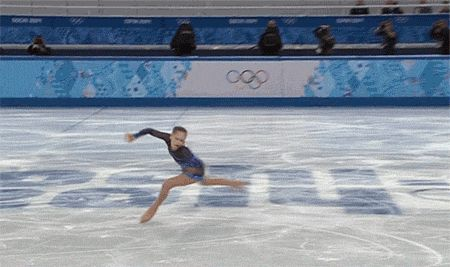 Yulia Lipnitskaya-what's awesome about her is this wasn't accelerated digitally, she's really that fast. It's extreme.