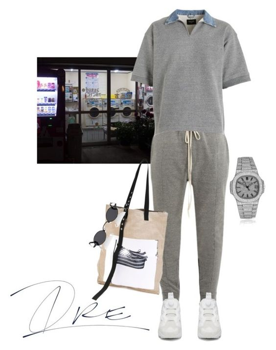 """Chill Wit Me"" by stylinwitdre ❤ liked on Polyvore featuring Fear of God, Reebok, Raf Simons, Roberi & Fraud, Patek Philippe, men's fashion and menswear"