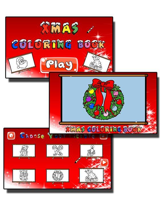 Xmas Coloring Book - HTML5 Mobile Game - 1