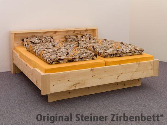 Zirbenbett Hochries Doppelbett Massivholzbett Zirbenbett - dream massivholzbett ign design