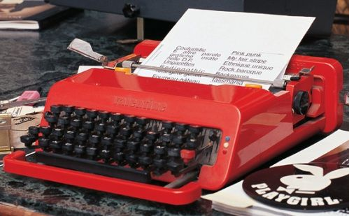 The Red, Plastic, Olivetti typewriter is released