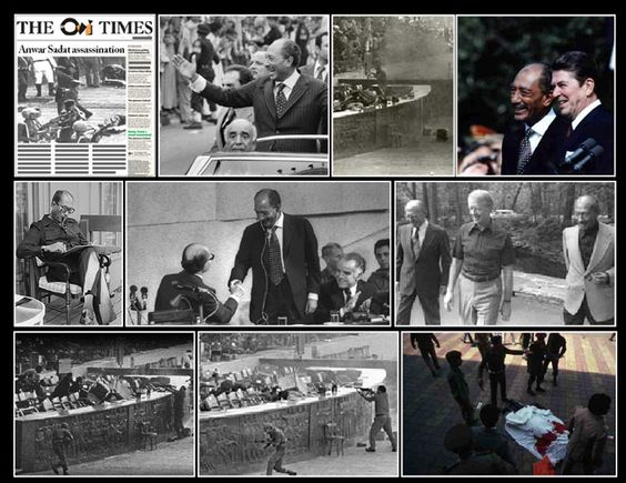 October 6th 1981; Islamic extremists assassinate Anwar Sadat, the president of Egypt, as he reviews troops on the anniversary of the Yom Kippur War. Led by Khaled el Islambouli, a lieutenant in the Egyptian army with connections to the terrorist group Takfir Wal-Hajira, the terrorists, all wearing army uniforms, stopped in front of the reviewing stand and fired shots and threw grenades into a crowd of Egyptian government officials. Sadat, who was shot four times, died two hours later.