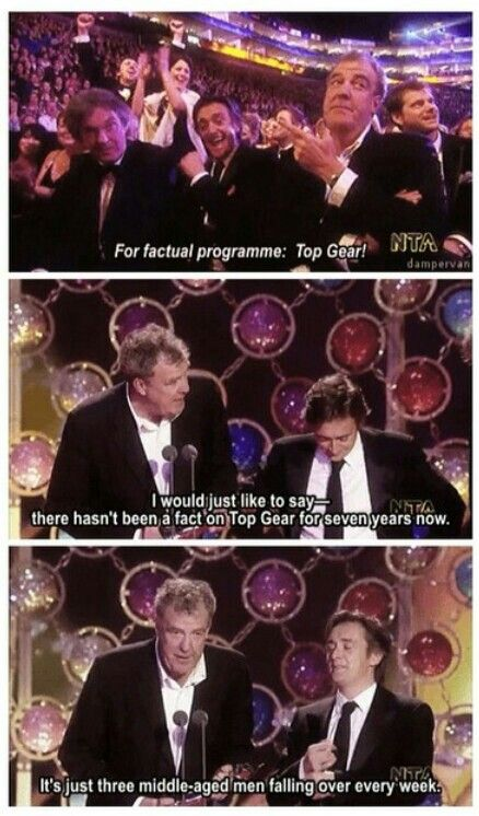 I would like to say...  there hasn't been a fact on Top gear for seven years now.