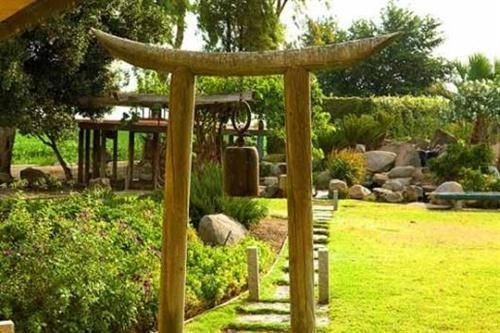 Japanese Arbor with bell