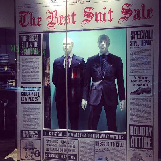 "Best Menswear,Dublin,Ireland announcing ""The Best Suit Sale"" ever"