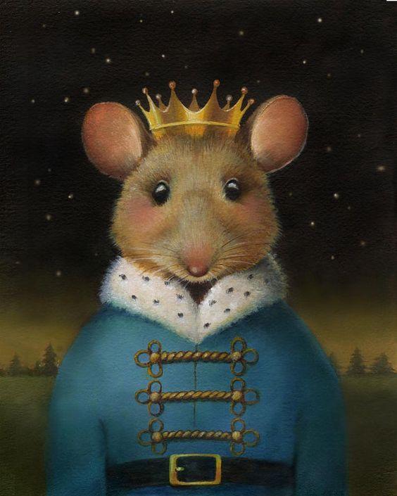 Portrait du roi des souris  par CuriousPortraits sur Etsy