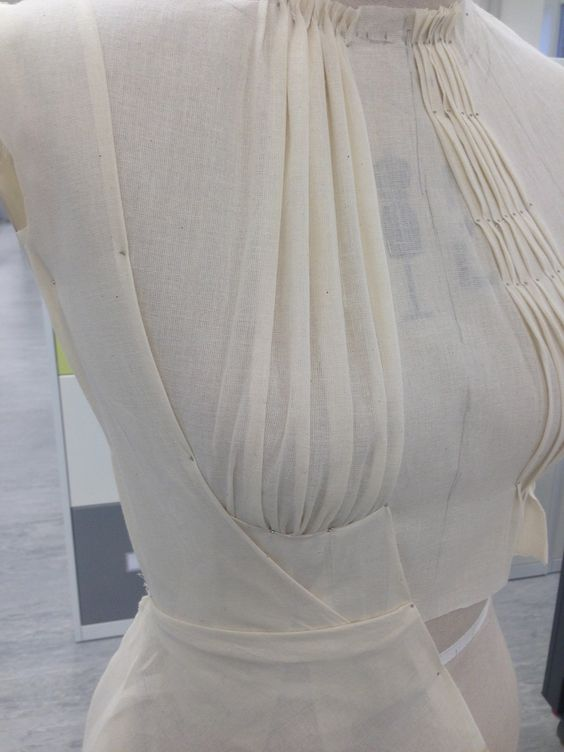 Draping on the Stand - pleated bodice design; manipulating fabric; sewing; couture techniques;  // Yolanda Ati-tay