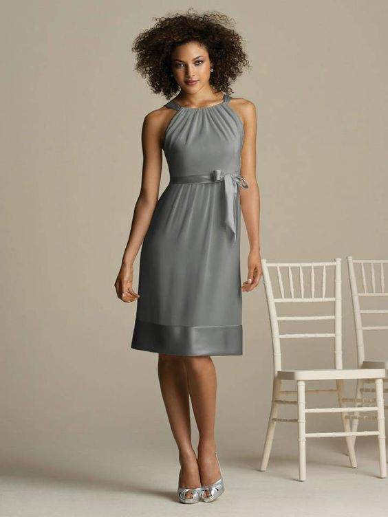 Grey Cocktail Dress - Qi Dress