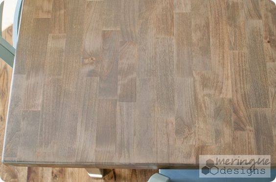Kitchen tables minwax and gray stain on pinterest Restaining kitchen table