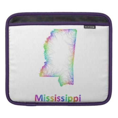 Rainbow Mississippi Map Sleeve For IPads Mississippi - Mississippi state map usa