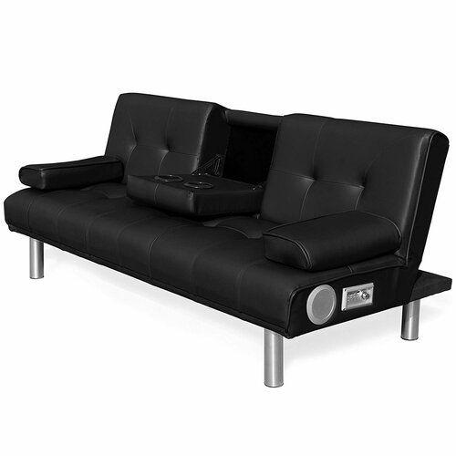 Mccann 3 Seater Clic Clac Sofa Mercury Row Upholstery Colour Black Single Sofa Bed Sofa Bed Mattress 3 Seater Sofa Bed