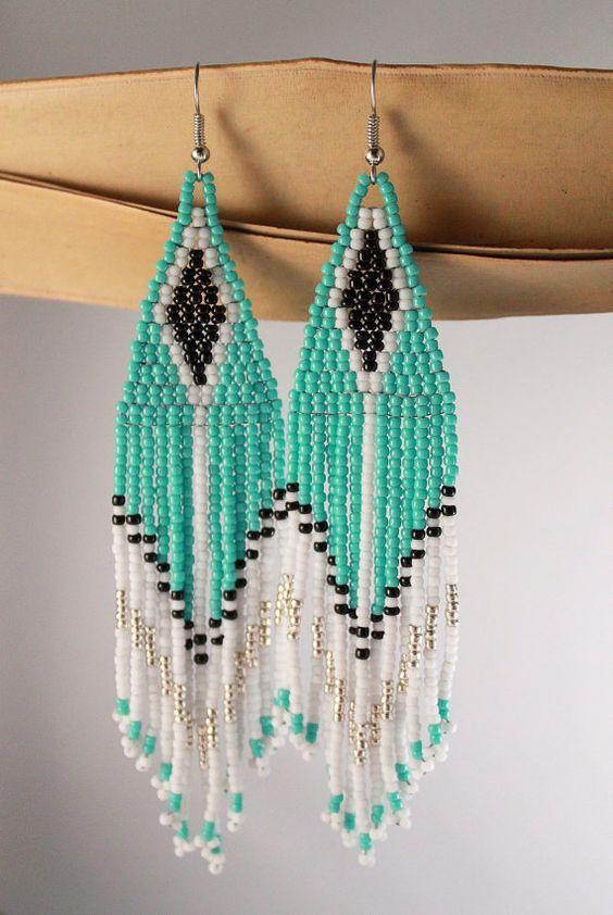 Tribal EarringsNative American Seed BeadedNative by NativeStyles
