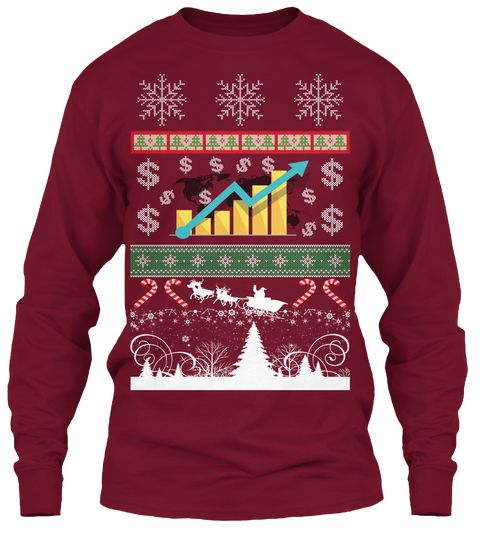 Golden Retriever Ugly Christmas Sweater Red Adult Long Sleeve T-Shirt