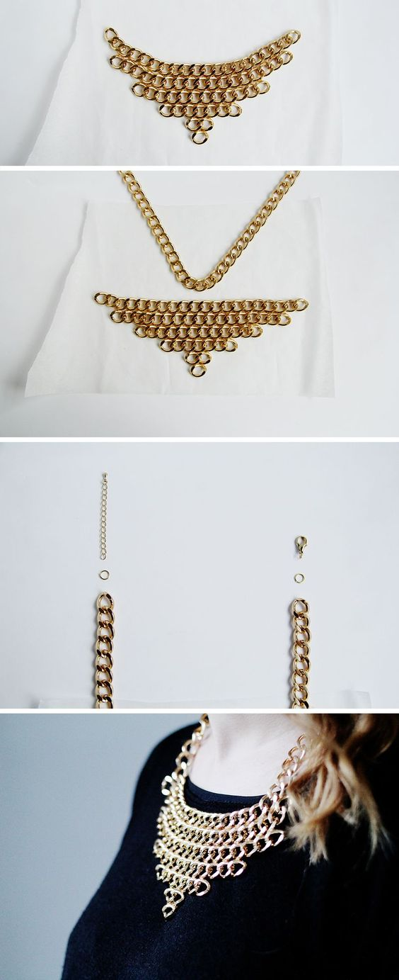 Chain Layer Necklace Fall For DIY Tutorial: