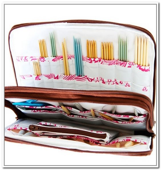 Knitting Needle Storage Pattern : Need to, Knitting needle storage and Storage on Pinterest