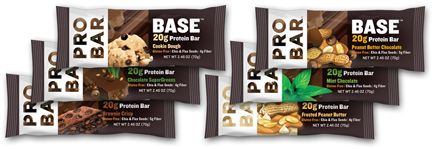 PROBAR BASE™ Variety Pack contains two each of Mint Chocolate, Peanut Butter Chocolate, Brownie Crisp, Frosted Peanut Butter, Chocolate SuperGreens, and Cookie Dough 20g protein bars. Recover in a new, delicious way each day with these six fantastic flavors.