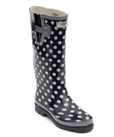 black and white polka dot rain boots | Gommap Blog
