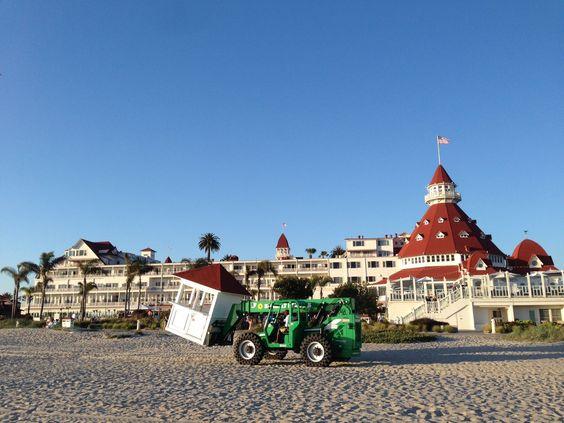 The beach at the Hotel del Coronado in Coronado, CA