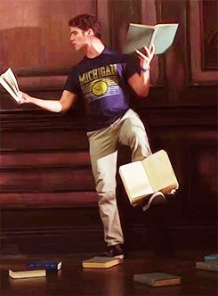 best ways to read books, demonstrated fabulously by Darren Criss | 25 Proper Ways To Read A Book