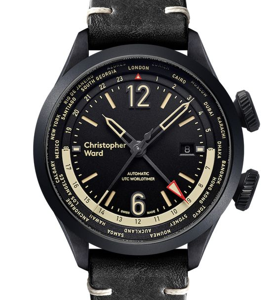"Christopher Ward C8 UTC Worldtimer Watch - by James Stacey - See what's new with Christopher Ward now at: aBlogtoWatch.com - ""Based on the Christopher Ward C8 Flyer, their new C8 UTC Worldtimer is a pilot-style twin-crown sport watch with a world time bezel and an aviation-inspired dial design. For both travelers and those who work on international projects, a world timer can be a very handy complication. With the ability to display the time in any standard UTC timezone..."""