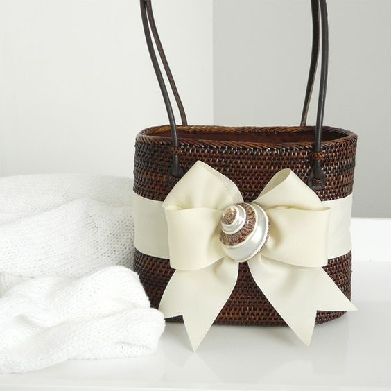 Bosom Buddy Chocolate and Ivory Shell Bag