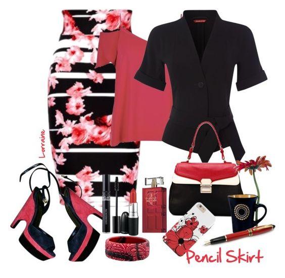 """Pencil Skirt"" by lorrainekeenan ❤ liked on Polyvore"