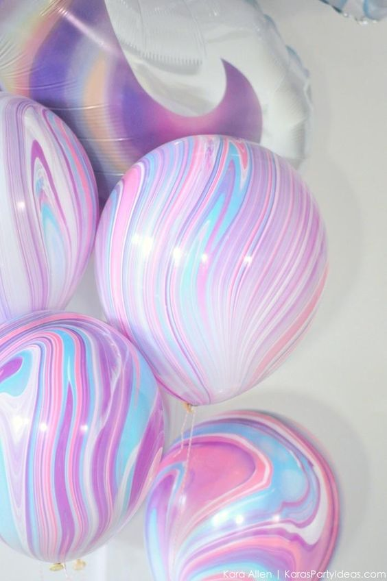 Gorgeous Marble effects Balloons are perfect for Unicorn Baby shower