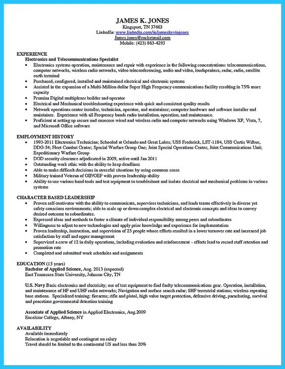 Are you trying to make the best cable technician resume ever? If - the best resume ever