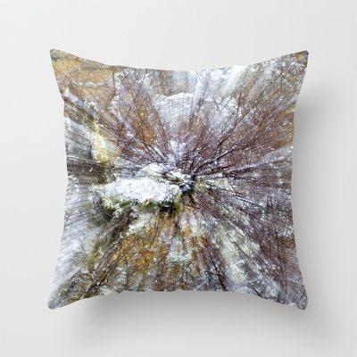Winter Burst Throw Pillow