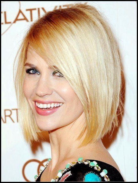 Klassische Blunt Bob Frisuren Blondes Glattes Haar Bob Frisuren Frisur Langes Gesicht Haarschnitt Kurz Haarschnitt Kurze Haare