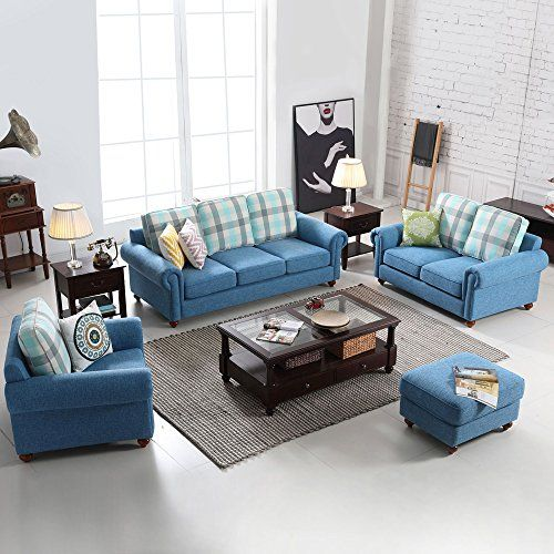 Morden Sectional Corner Sofa Indoor Fabric Sofa Lounge Sofa Bed Blue Living Room Furniture Couches Living Room Sectional Grey Couch Living Room Couches Living