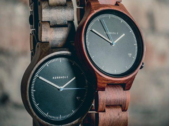 armbanduhren aus holz mit kerbholz uhren treffen sie eine. Black Bedroom Furniture Sets. Home Design Ideas