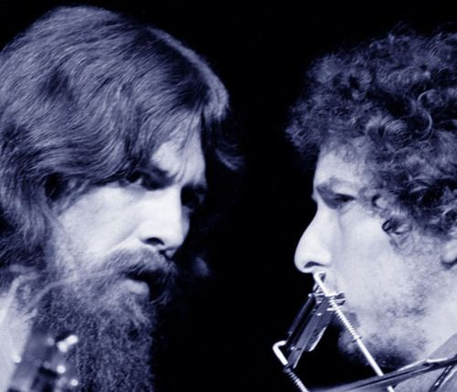 George Harrison and Bob Dylan.