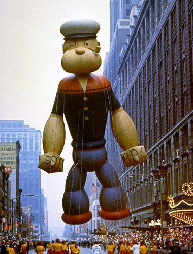 Macy's Parade.  Popeye balloon 1968.