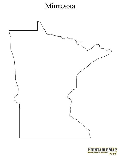 Geography Blog Minnesota  Outline Maps