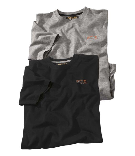 Lot de 2 Tee-Shirts Galloway http://www.atlasformen.fr/lot-de-2-tee-shirts-galloway-n4048-50