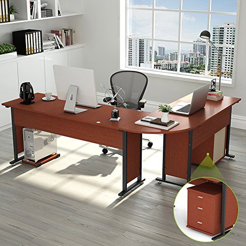 87 Tribesigns Largest Modern L Shaped Desk With Return And Mobile