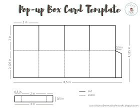 A Bit Of My Crafts Free Pop Up Box Card Template Pop Up Card Templates Pop Up Box Cards Box Cards Tutorial