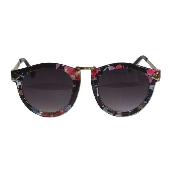 Óculos Malibu com textura floral #universoonassis