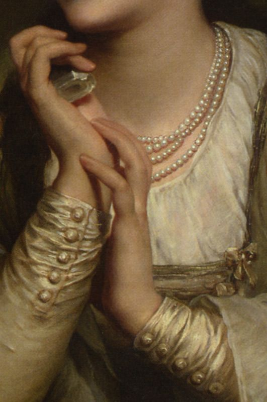 Distant Thoughts, Thomas Francis Dicksee, detail:
