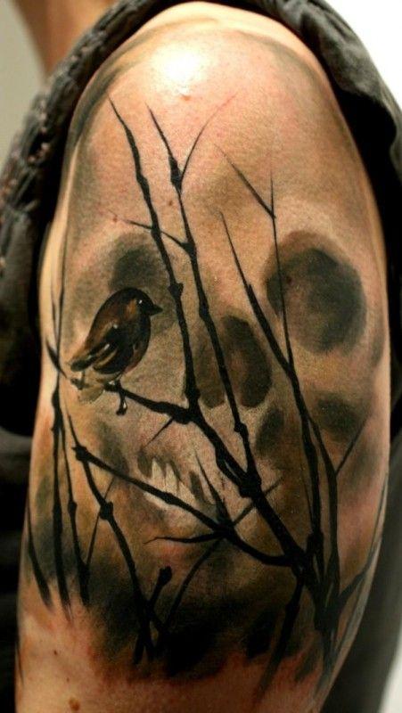 swamp skull tattoo tattoos pinterest kreativ tattoo. Black Bedroom Furniture Sets. Home Design Ideas