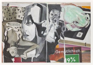 """Gemütlichkeit,"" original figurative painting by artist Bettina Semmer available at Saatchi Art. #SaatchiArt"