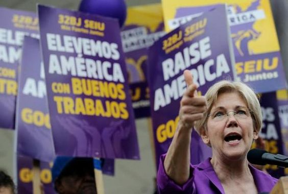 #Warren rallies with janitors for better pay and working conditions - The Boston Globe: Boston Herald Warren rallies with janitors for…