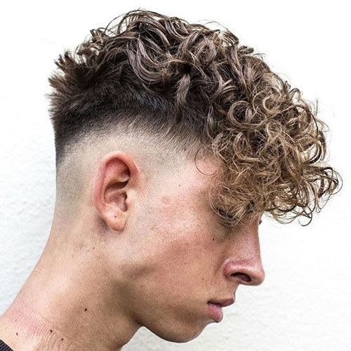 Curly Fringe Hairstyle For Men Curly Hair Fade Curly Hair Styles Curly Hair Men